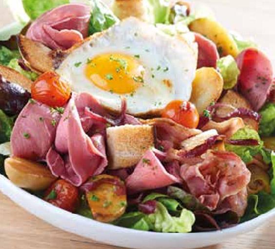 Les entrées et salades